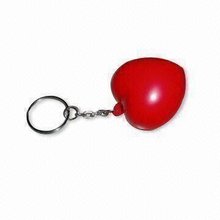 PU Antistress Red Heart Keychain Gift Toy