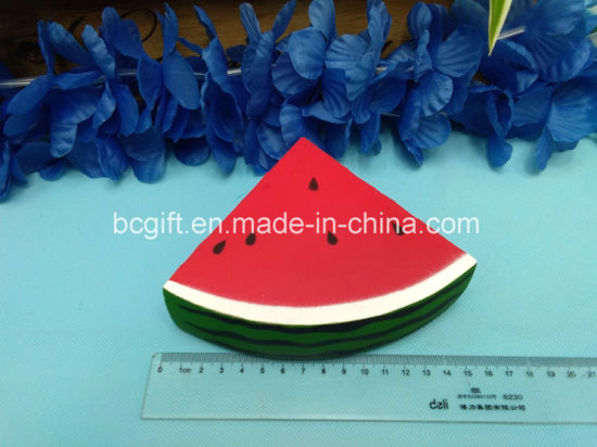 Watermelon Slice Piece PU Squishy Toy Slow Rising Scented Squishies
