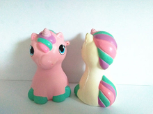 Unicorn Sitting Horse Squishies PU Soft Slow Rising Squishy Toys