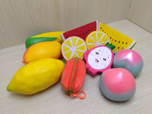 Squishies Mix Fruits Sets PU Foam Slow Rising Squishy Toys