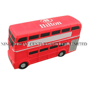 Bus Double-Decker Design PU Foam Promotional Toy Stress Ball