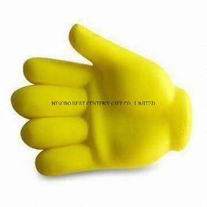 PU Foam Squeeze Toy Hand Design Promotional Stress Balls