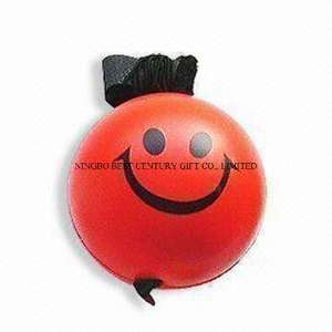 PU Stress Ball Yoyo Smiley Ball Shape Toy