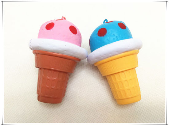 PU Squishy Ice Cream with Dots Squeeze Slow Rising Toy