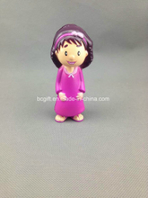 PU Foam Stress Toy Girl Design (with purple gown)