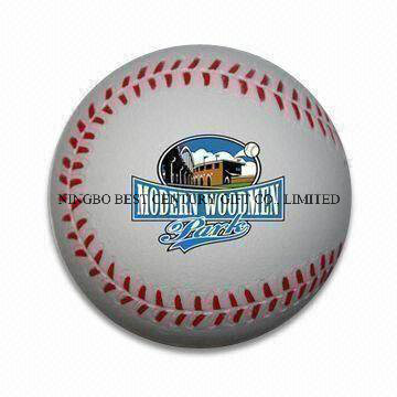 PU Antistress Ball Baseball Design Toy