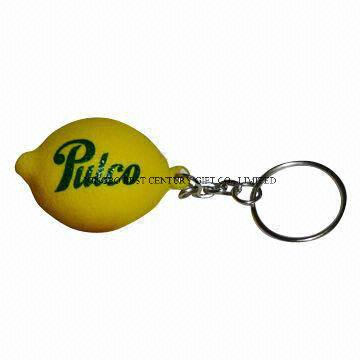 PU Stress Lemon Keychain Promotional Stress Balls Toy