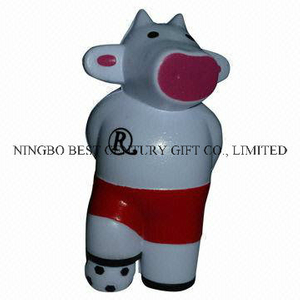 PU Foam Anti-Stress Toy Cow Soccer Player Design