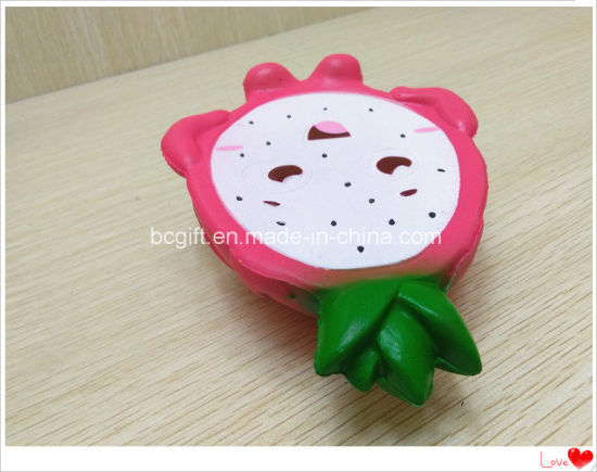 Half Dragon Fruit Pitaya Slow Rising Scented PU Squishy Toy