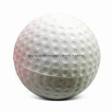 PU Foam Anti Stress Ball Golf Ball Shape Toy