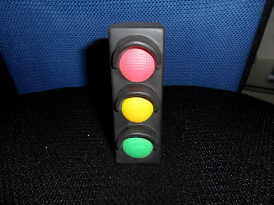 Traffic Light Shape PU Foam Promotional Toy Stress Ball