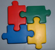 PU Foam Puzzle Pieces Shape Stress Toy