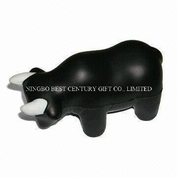 PU Foam Toy Bull Design Promotional Stress Ball