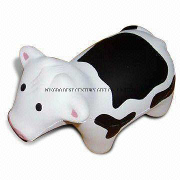 Cow Shape PU Foam Stress Toy Promotional Stress Ball
