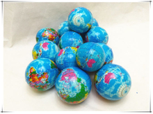 PU Globe Balls with Full Colors Printings Slow Rising Squishy Toys