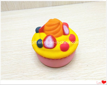 Squishy Strawberry Colorful Ice Cream Cup Cake Slow Rising PU Squishies Toys