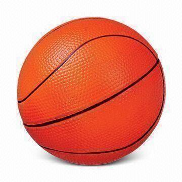 PU Foam Stress Ball Basketball Shape Toy