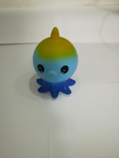 Unicorn Squishies Blue Octopus One-Horned PU Slow Rising Squishy Toys
