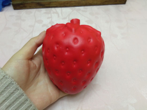 Big Strawberry Squishies Scented PU Large Slow Rising Squishy Toys