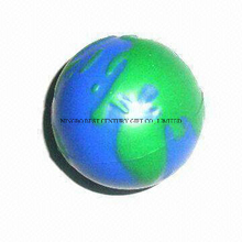 PU Anti Stress Ball Earth Globe Ball World Design Toy