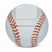 Baseball Shape Mobile Phone Holder PU Foam Gift Stress Ball