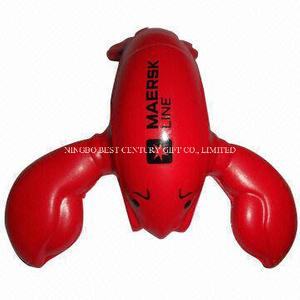 PU Gift Toy Lobster Design Promotional Stress Balls