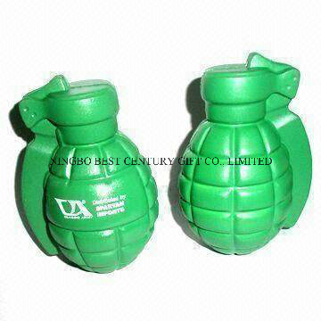 Wholesale PU Hand Grenade Stress Reliever Toy with Custom Logo
