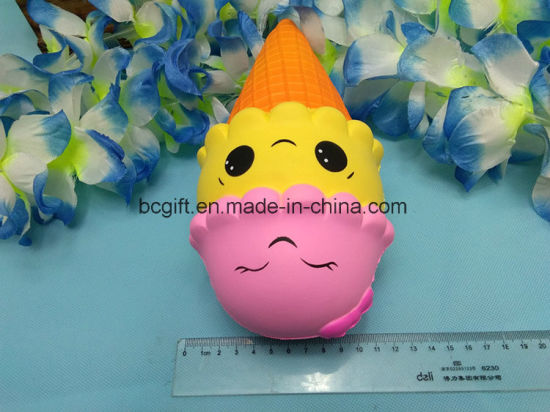 PU Squishy Ice Cream Smiley Squeezable Jumbo Slow Rising Toy