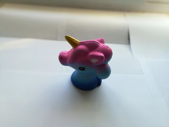 Hot Selling 12cm Galaxy Unicorn Horse Head PU Squishy Slow Rising Toy