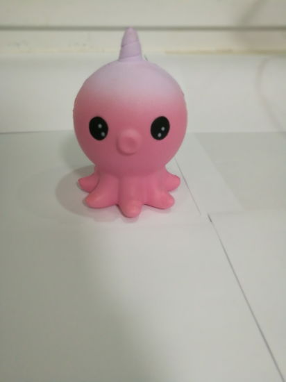 Squishies Pink Octopus One-Horned PU Slow Rise Unicorn Squishy Toys