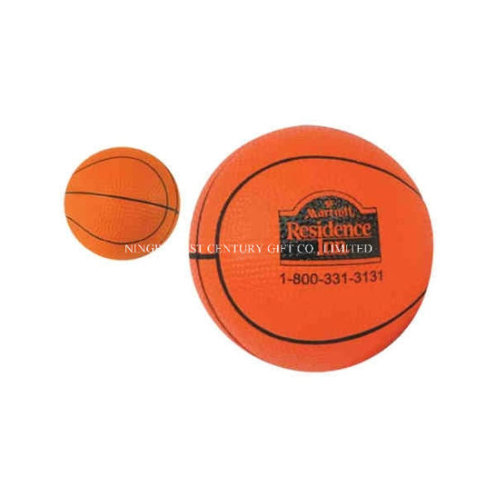 Hot Sale Basketball Shape PU Anti-Stress Ball