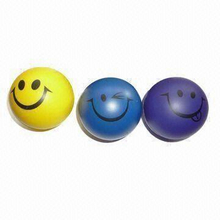 PU Foam Smiley Stress Ball Shape Toy
