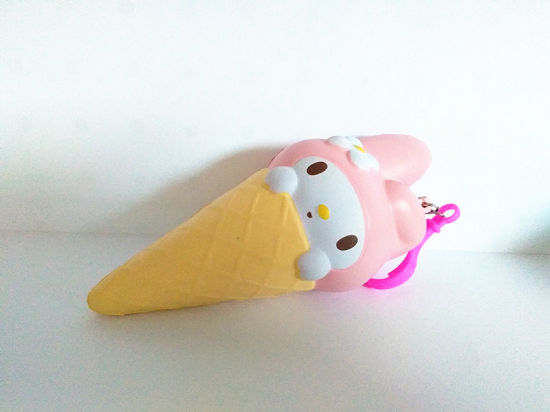 Squishys Rabbit Ice Cream PU Foam Stress Slow Rising Squishy Toy