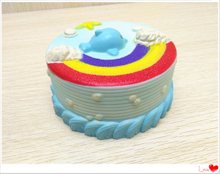 Hot Selling Rainbow Cake Squishies Slow Rising PU Squishy Toys Wholesale