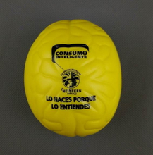 PU Squeeze Stress Toy Yellow Brain Stress Ball
